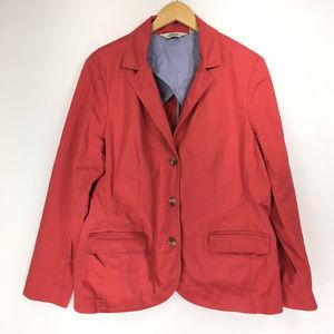 LL Bean XL Jacket Coat Jean Denim Coral Pink